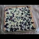 Blueberry Shortbread Bars – Easy Summer Fruit Shortbread Cookie Bars
