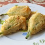 Fried Stuffed Squash Blossoms – Squash Flowers Stuffed with Goat Cheese