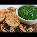 Kale Pesto With Seeded Crackers