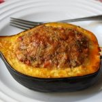 Sausage & Rice Stuffed Acorn Squash Recipe – Squash Stuffed with Lamb Sausage & Rice