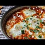 Shakshuka – Eggs Poached in Spicy Tomato Pepper Sauce