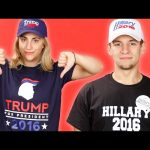 Trump And Clinton Supporters Wear Campaign Gear For A Day