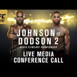 UFC 191: Johnson vs. Dodson 2 Media Conference Call