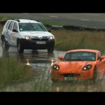 World's most unusual race – Dacia Duster vs Ginetta G40R by autocar.co.uk