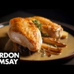 Chicken Breast and Sautéed Chicory in Marsala Sauce – Gordon Ramsay