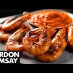 Sweet Pepper Sauce with Grilled Prawns – Gordon Ramsay