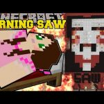 Minecraft: BURNING SAW (DO YOU WANT TO PLAY A GAME?) Mini-Game