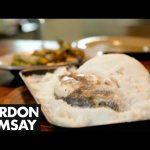 Salt-Crusted Sea Bream with Braised Leeks and Hazelnuts – Gordon Ramsay