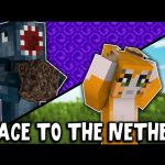 Minecraft – RACE TO THE NETHER CHALLENGE!