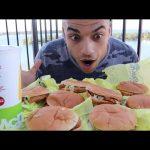 تحدي اكل 8 برجر دجاج الجونيور تشيكين من ماكدونالدز بكمية هائلة جدا |التحدي الأكبر|