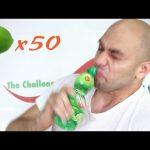 تحدي مشروب عصير الليمون المركز مجموع 50 ليمونه شديدة الحموضة ومقززة |التحدي الاكبر|
